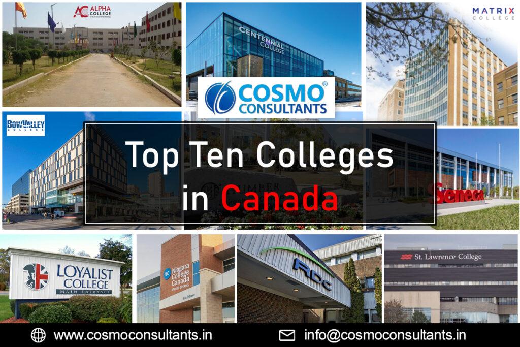 Top Ten colleges in Canada