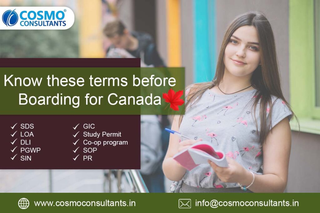Know these terms before Boarding for Canada