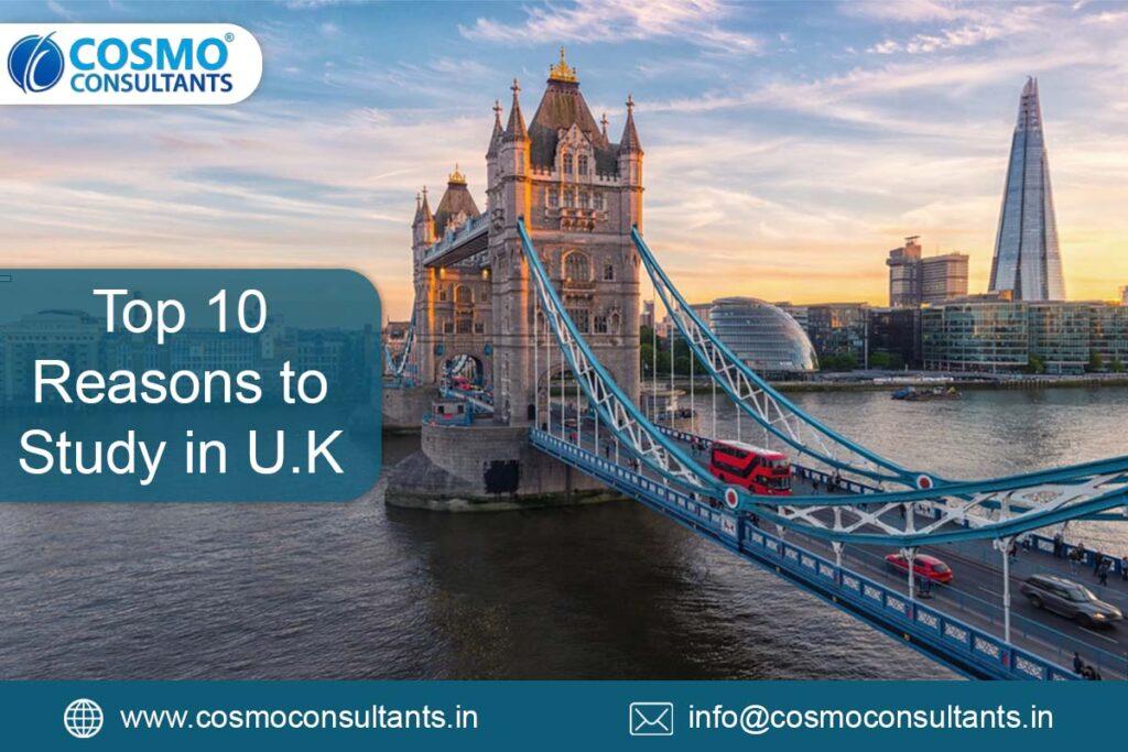 Top Ten Reasons to Study in UK